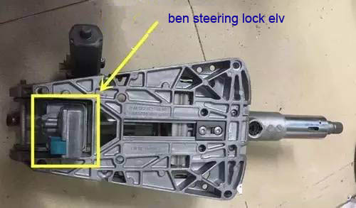 2 Ways To Repair Benz ELVESL Steer Lock Problem-2