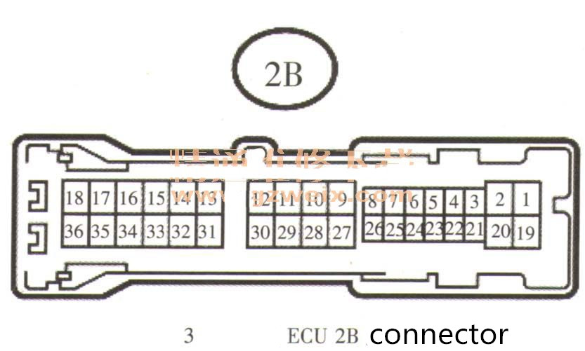 Main body ECU 2B connector-3