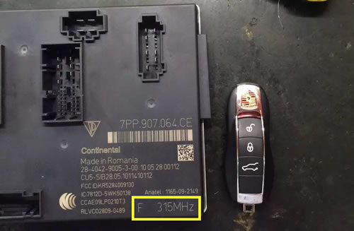 How to Programe Smart Key For Porsche Panamera-1