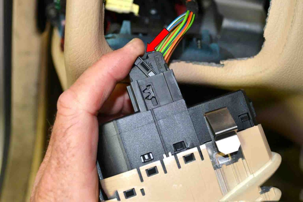 How to replace Benz W203 Light Control Switchn Module-06