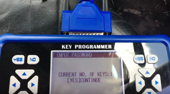 How to program key for VW Bora all key lost-9