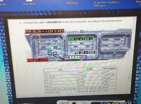 How to read Ford Transit SID208 ECU-6