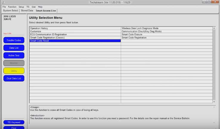 How to Reset Toyota Password Immo code with Techstream-(5)