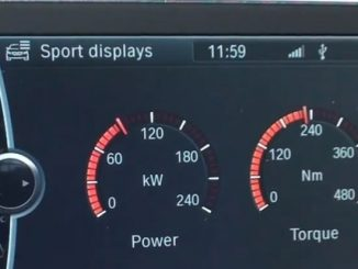 bmw sport display