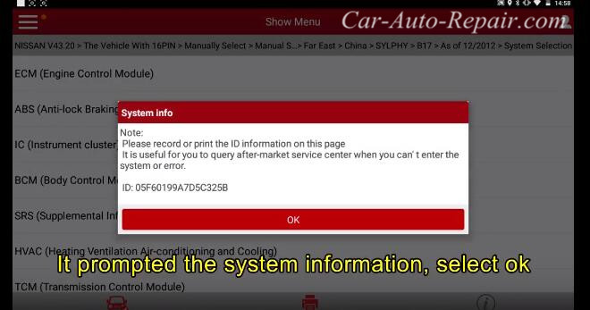 How to Reset Nissan Steering Angle Sensor (2009~2014) (2)
