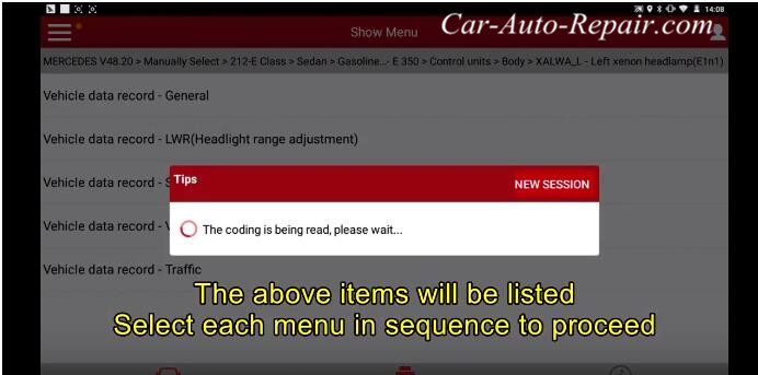 Mercedes Benz E-series(212,207) 2010 Headlight Coding Guide (2)