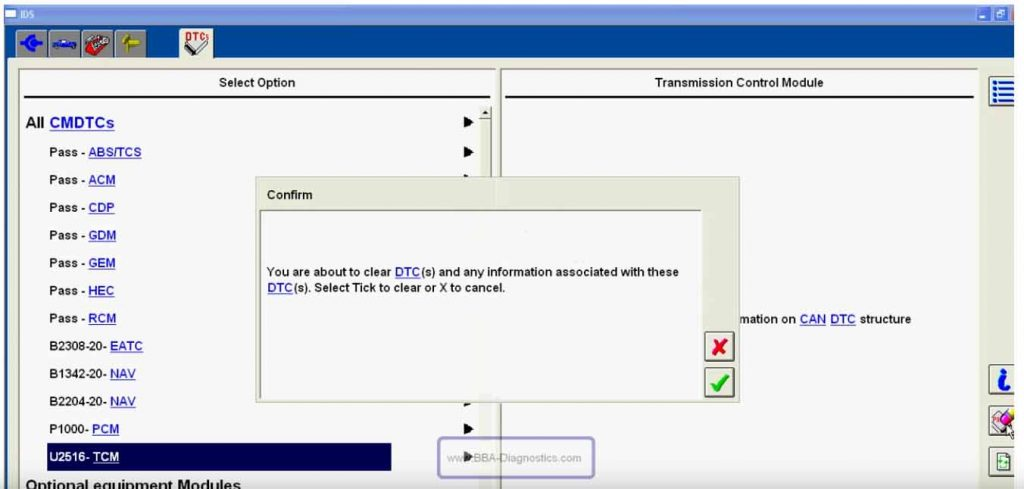 How to use Ford Mazda IDS Read and Clear Trouble Codes (3)