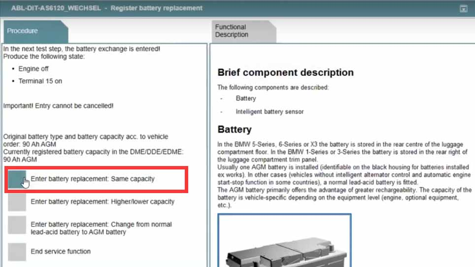 Rheingold ISTA Register New Battery for BMW F10 (6)