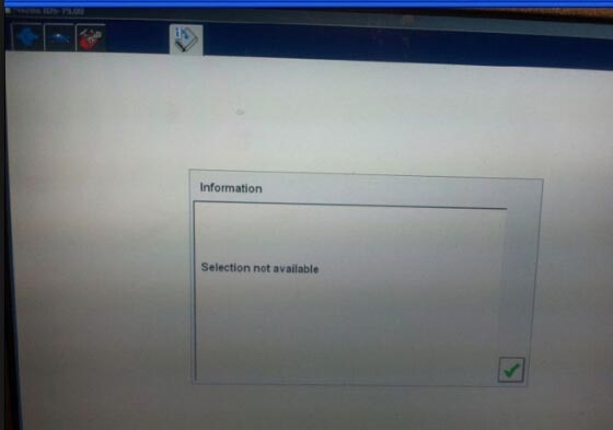Ford IDS Selection not available