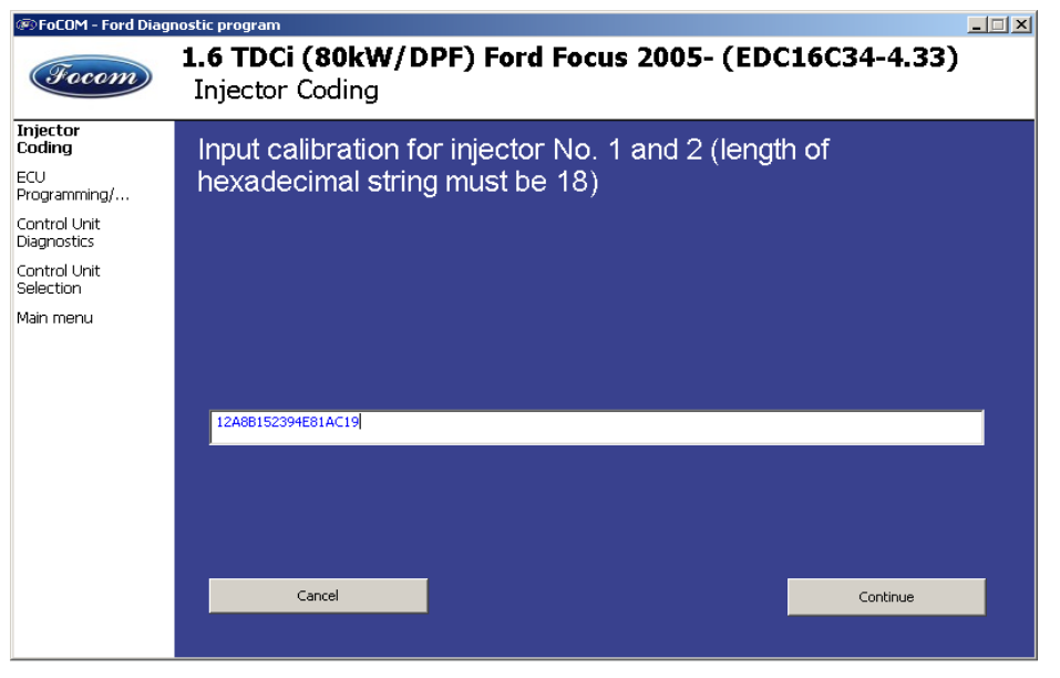 Ford TDCi Injectors Calibration Coding by F-COM-7
