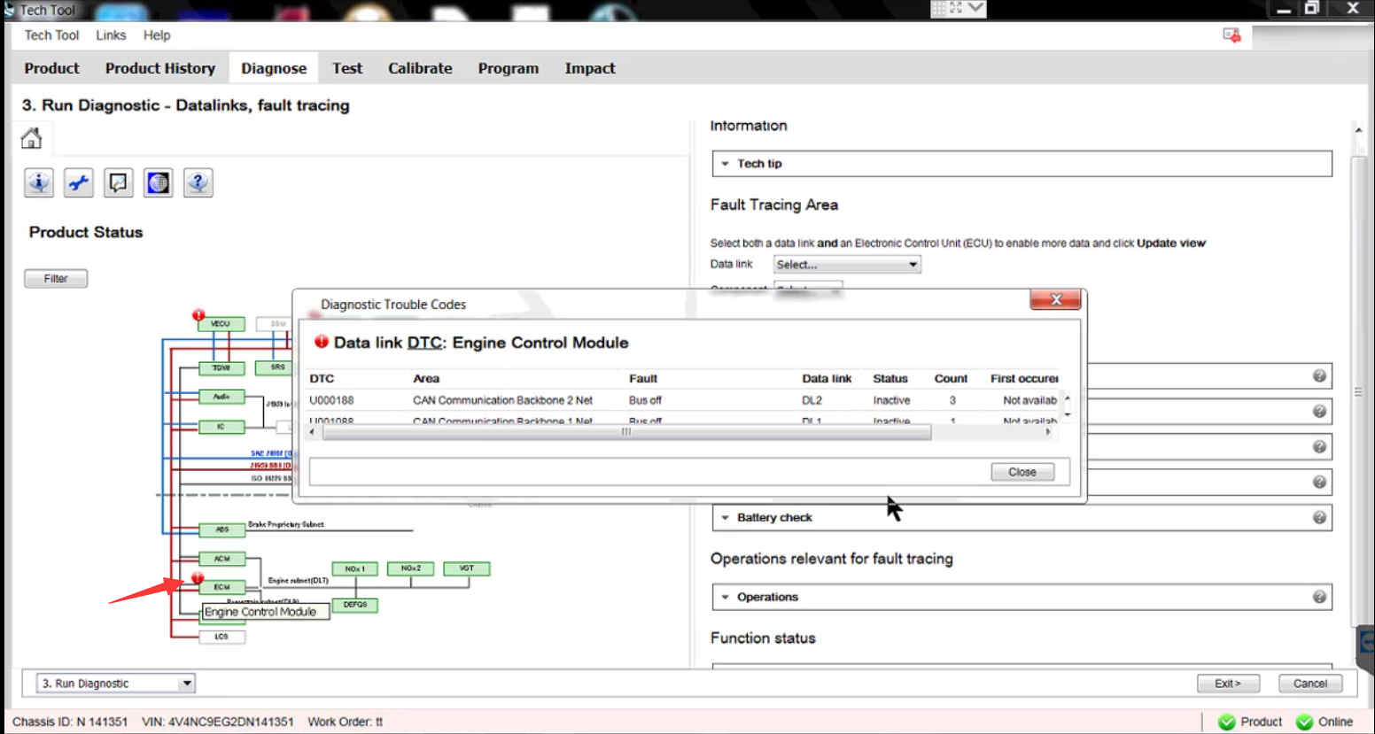 How to Use Volvo PTT Diagnostic a Fault Code (16)