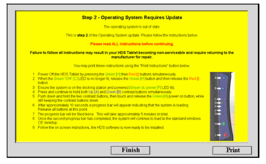 GDS2200 CE Operating System Update Procedure (4)