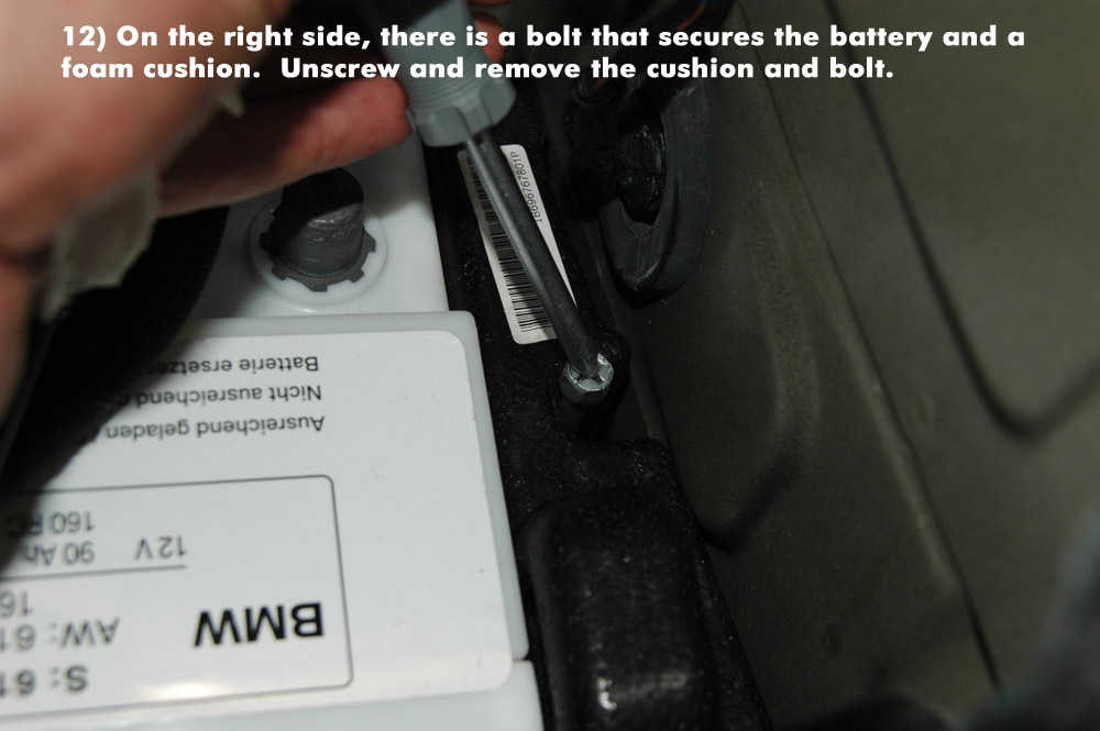 How to Replace New Battery for BMW E90 (12)