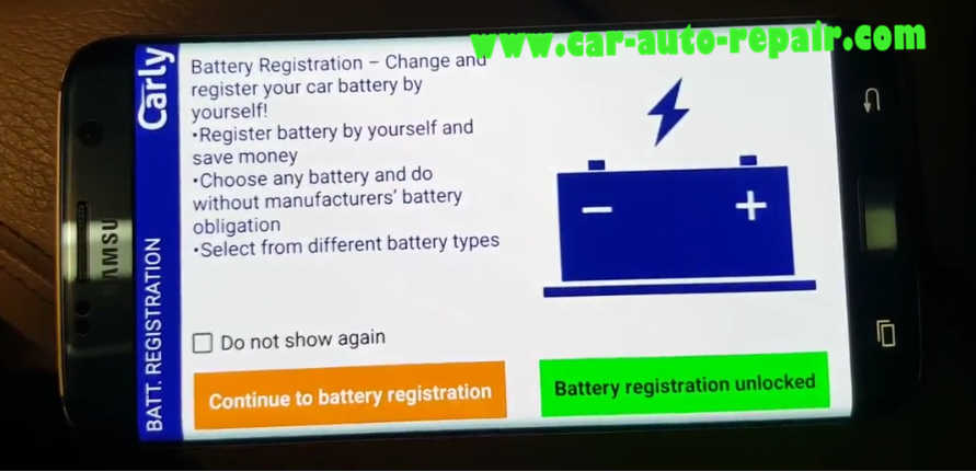 Carly BMW Register Battery for BMW F10 535i 2011 (12)