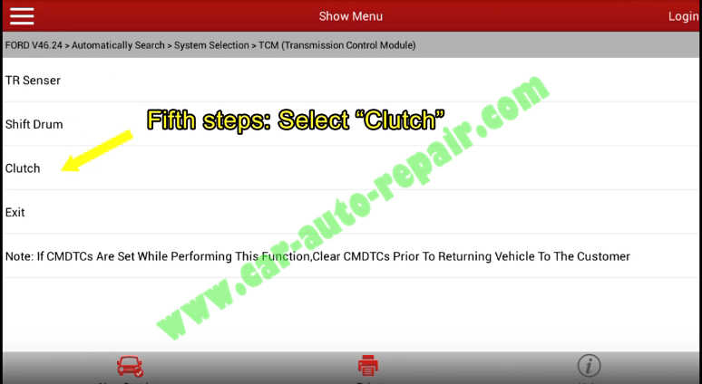 Ford Focus TCM Adaptive Learning,Clutch Learning by Launch X431 (10)