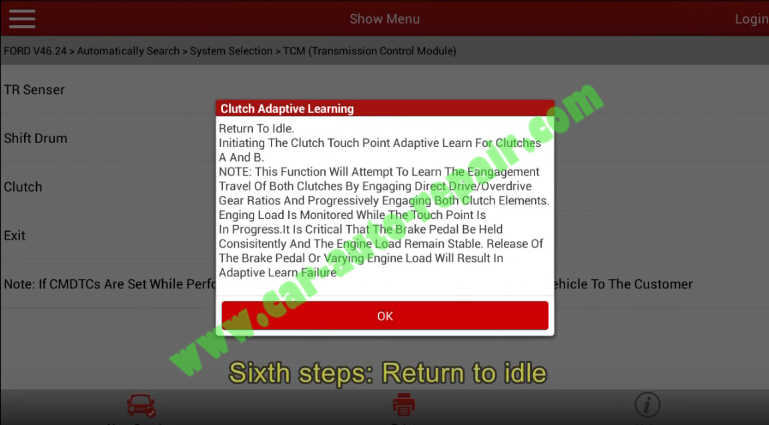 Ford Focus TCM Adaptive Learning,Clutch Learning by Launch X431 (16)