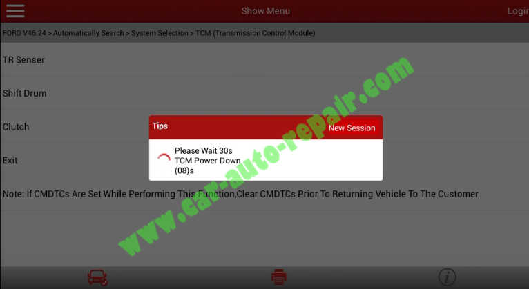 Ford Focus TCM Adaptive Learning,Clutch Learning by Launch X431 (20)