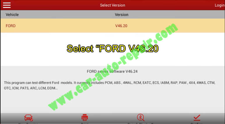 Launch X431 Perform DPF Static Regeneration for Ford Fiesta 2011 (1)