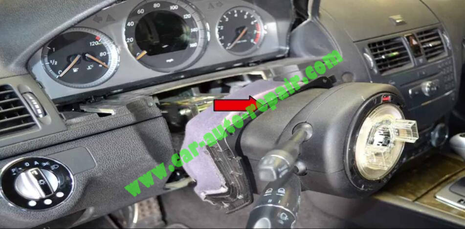 How to Remove & Replace Benz ESL ELV Electronic Steering Lock (5)