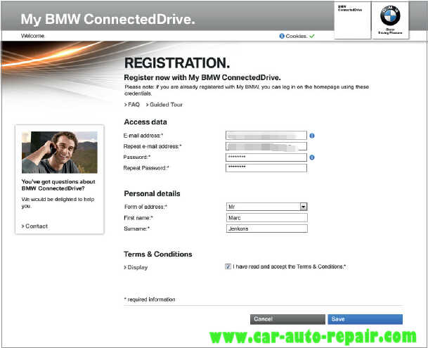 How to Register and Use BMW ConnectedDrive (2)