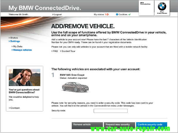 How to Register and Use BMW ConnectedDrive (5)