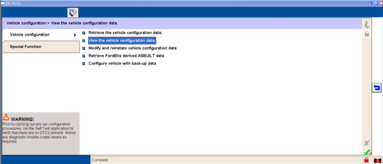 Ford IDS Configure Parameter for Ford Mondeo (27)