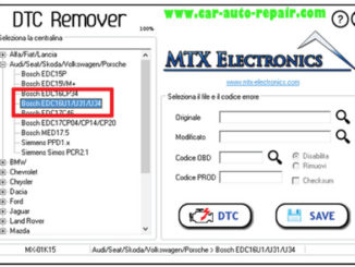 How to Use MTX DTC Remover for Bosch EDC16U31 (1)