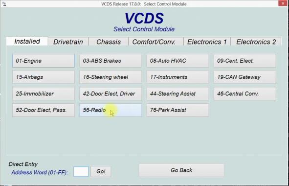 VCDS to Active AUX Function for RCD300 by Yourself (3)