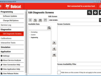 Bobcat Service Analyzer V87.07 V82.01 Free Download