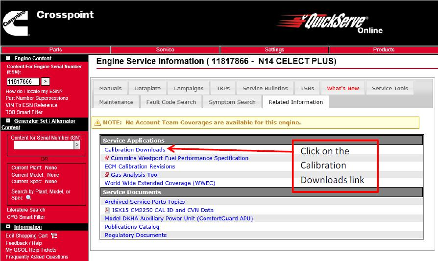 Cummins-QuickServe-Online-to-Downlaod-ECM-Calibrations-5