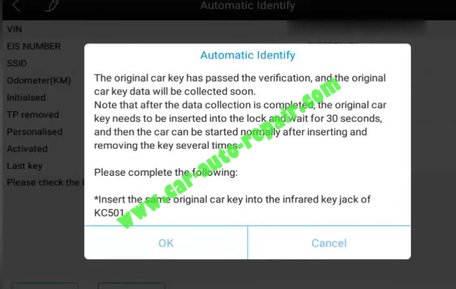 XTOOL-PAD3-KC501-Add-New-Infrared-Key-for-Benz-13