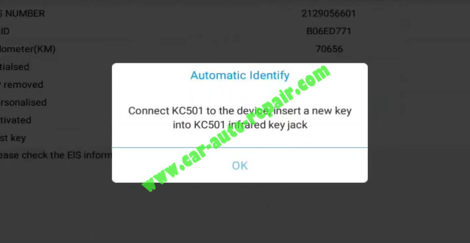 XTOOL-PAD3-KC501-Add-New-Infrared-Key-for-Benz-19
