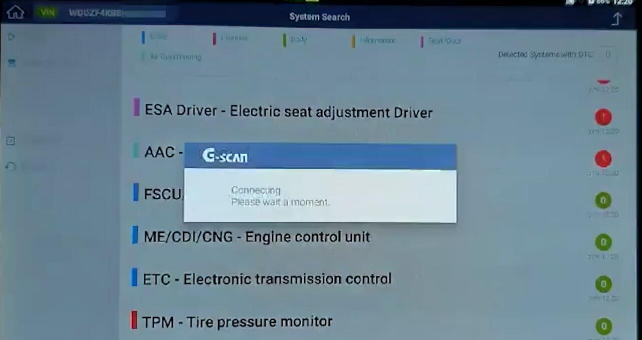 How-to-Use-G-scan3-start-engine-for-Mercedes-Benz-E-class-8