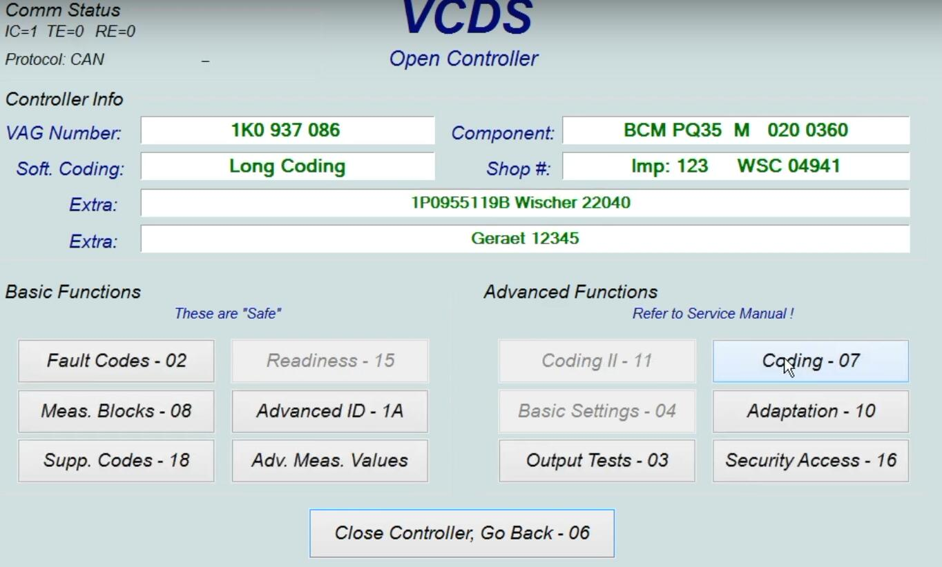 How-to-active-DRL-via-Fog-Lights-with-VCDS-for-Seat-Leon-4