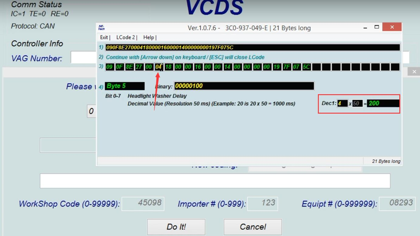 How-to-use-VCDS-delay-Headlight-Washer-for-VW-Golf-MK5-5