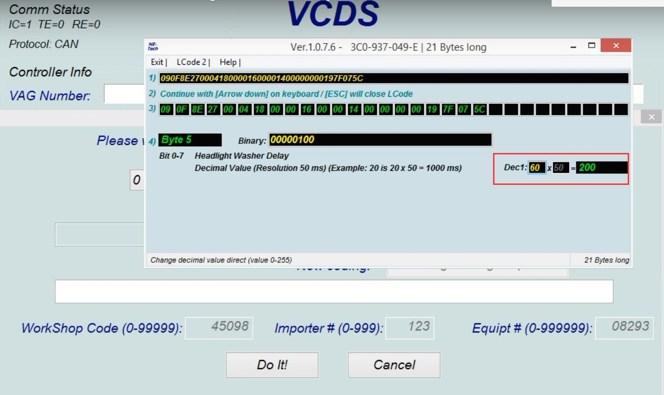 How-to-use-VCDS-delay-Headlight-Washer-for-VW-Golf-MK5-6