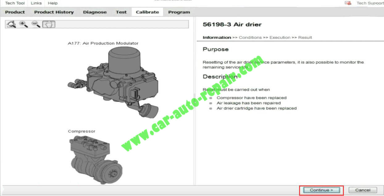 How-to-Reset-Air-Drier-for-Volvo-FMX-440-by-Volvo-Tech-Tool-4