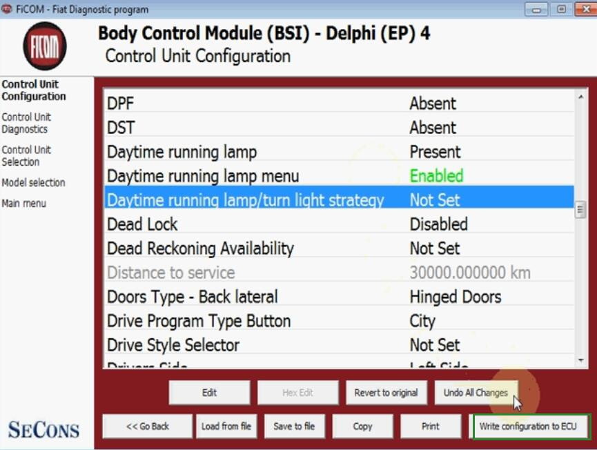 How-to-Enable-Day-Time-Running-Lamp-Menu-on-Fiat-Punto-Evo-by-FiCOM-12