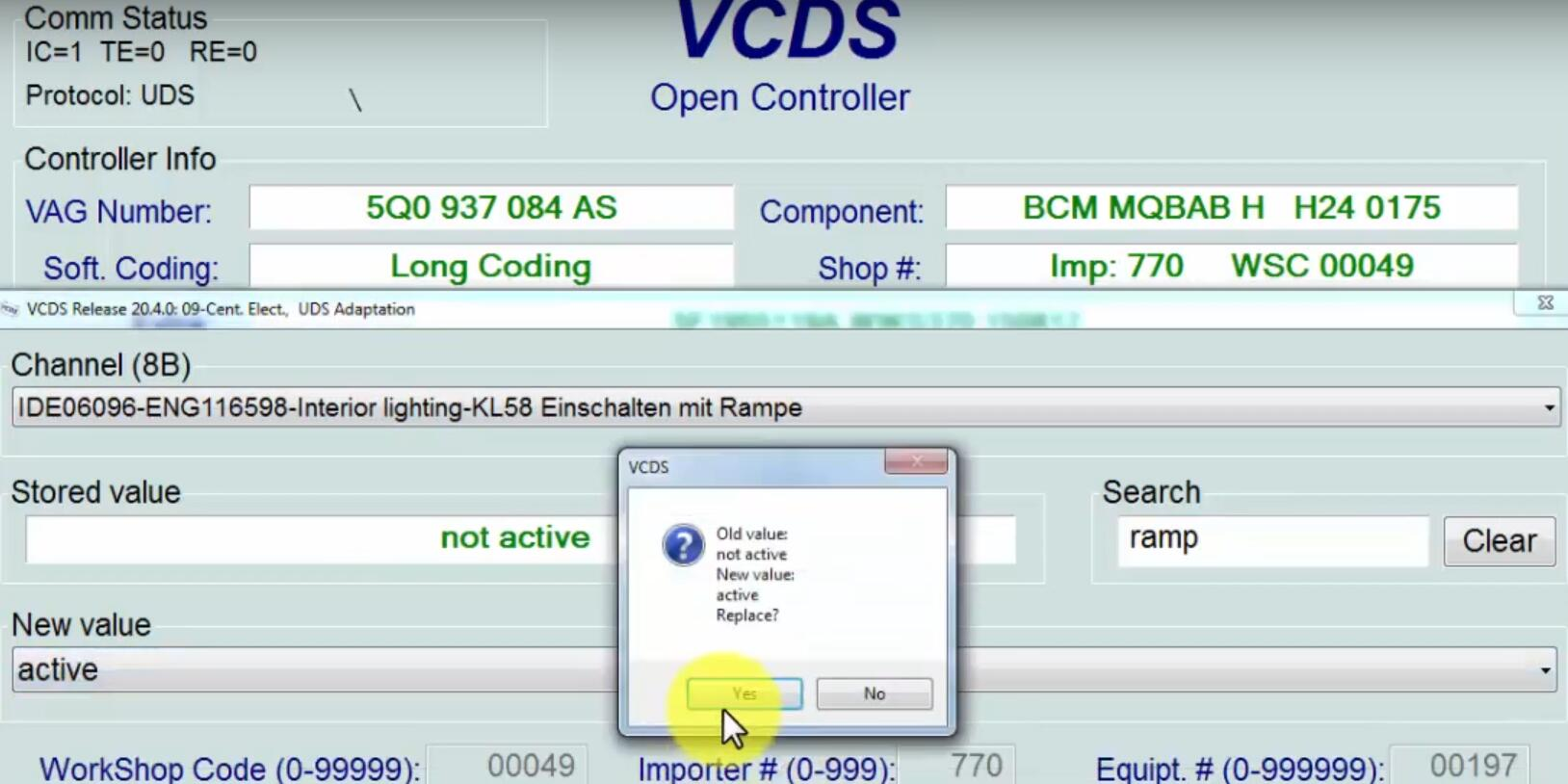 How-to-Activate-Interior-Lights-Fade-in-and-Out-Function-by-VCDS-for-Seat-Leon-5