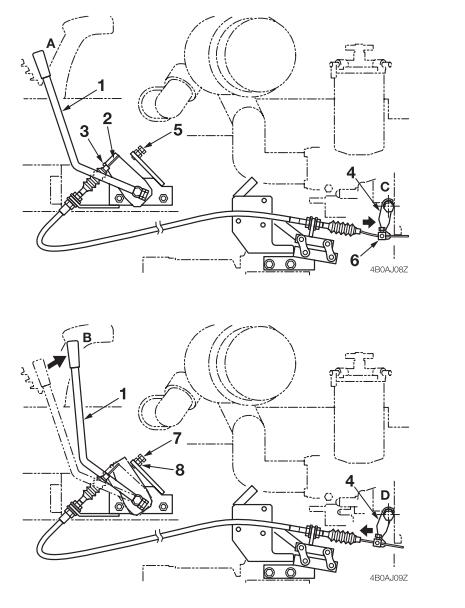 How-to-Adjust-Throttle-Lever-for-Takeuchi-TB128-Excavator-1