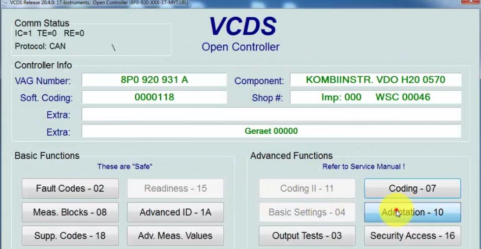 How-to-Reset-Service-Oil-by-VCDS-for-2004-Audi-A3-3