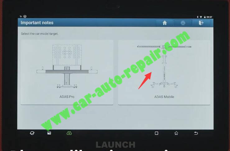Benz-E260-A28600-DTC-Front-Camera-Calibration-by-Launch-X431-ADAS-6