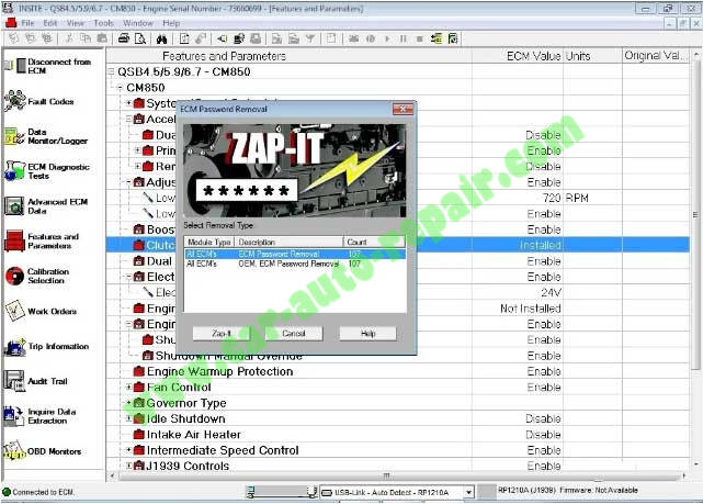 How-to-Remove-Cummins-Engine-ECM-Password-by-Iniste-7