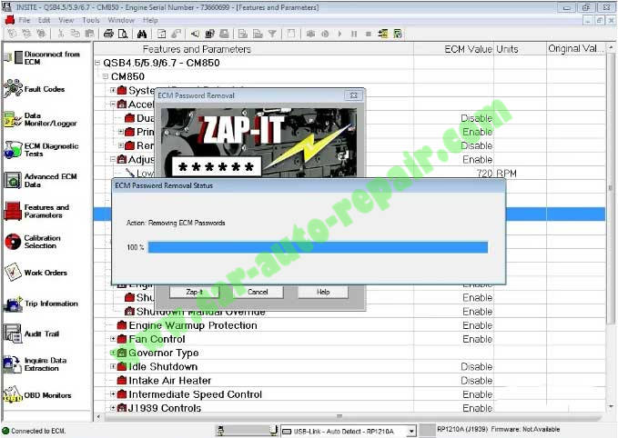 How-to-Remove-Cummins-Engine-ECM-Password-by-Iniste-8