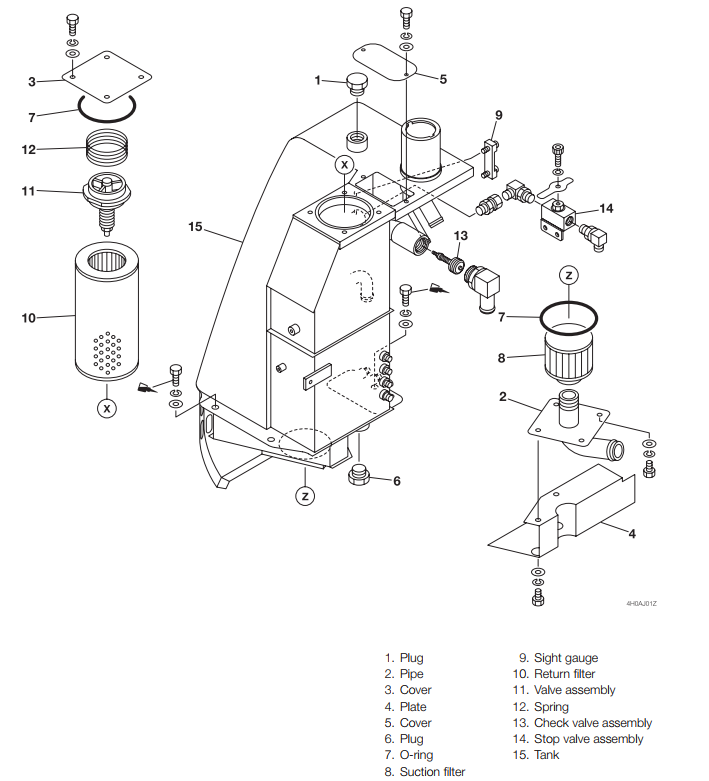 How-to-Remove-Install-Hydraulic-Tank-for-Takeuchi-TB1-Excavator