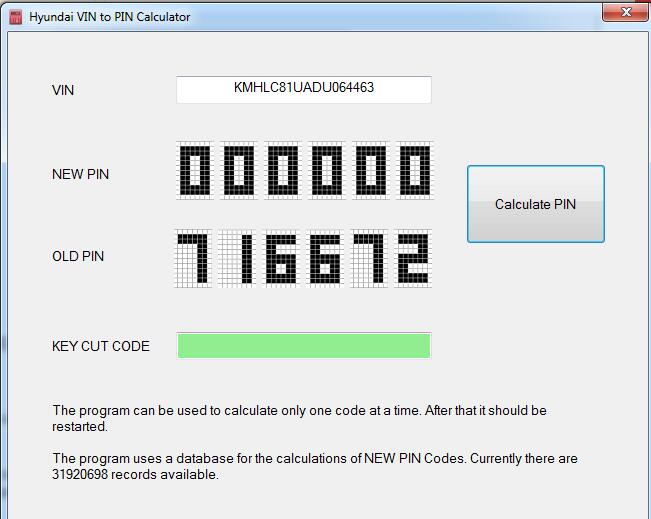Hyundai-KIA-VIN-to-PIN-Code-Calculator