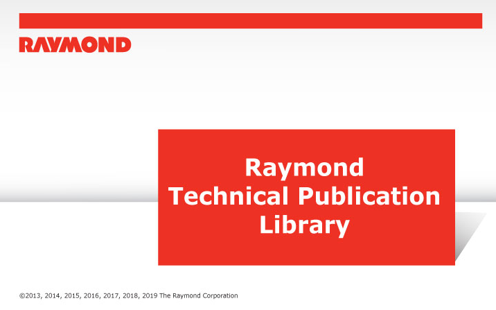 RAYMOND-Forklift-Technical-Publication-Library-2019