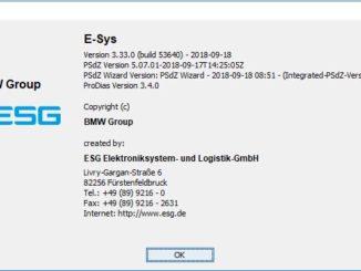 BMW E-sys 3.33.0