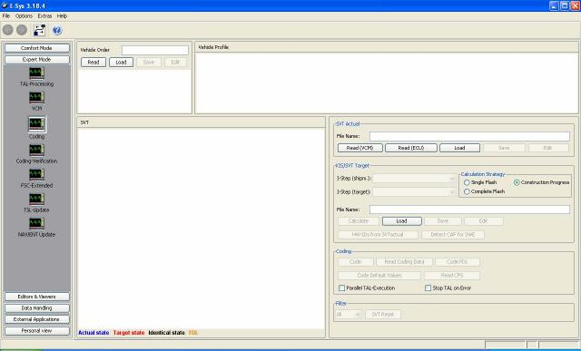 E-sys software picture