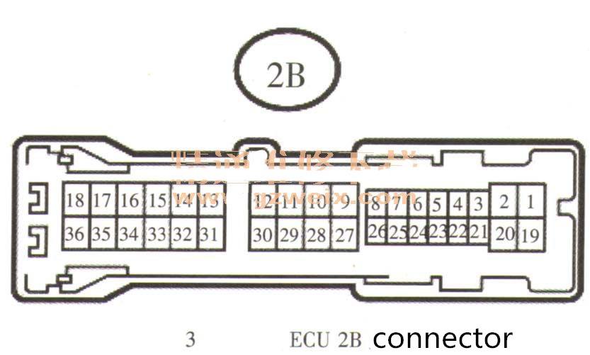 Main body ECU 2B connector-3